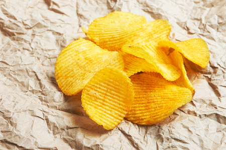 Chips on paper background