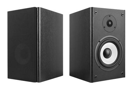 Wood Loud Speakers Isolated on White