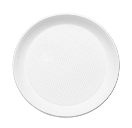 Plastic plate isolated on white background Stok Fotoğraf