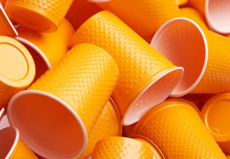Plastic cup close-up - Environmental problem concept