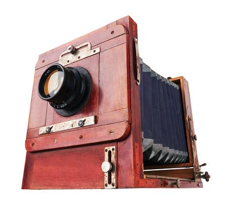 Old camera vintage isolated on white background