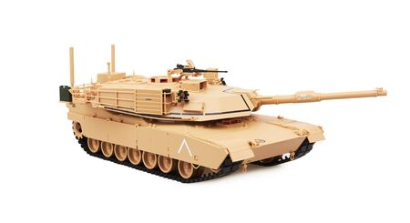 Abrams M1A1 Main Battle Tank, isolated on white background. Model.