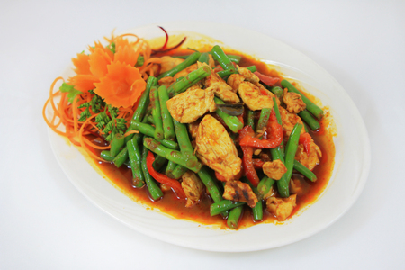 green bean: spicy chicken green bean