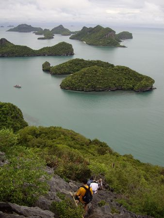 angthong: From point of view in Angthong National Marine Park, Thailand Stock Photo