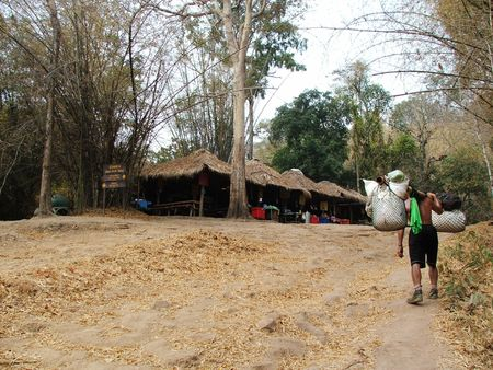 phukradueng: Phukradueng mountain in the northeastern Thailand when drought Stock Photo
