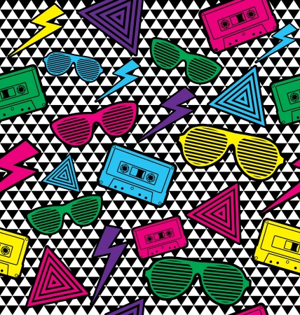 New Rave Pattern. Vector