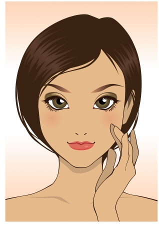 beauty girl face close up Stock Vector - 15096757