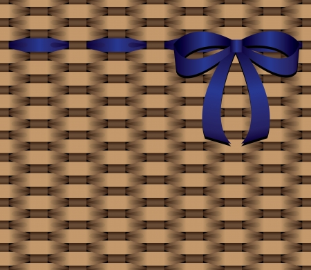 ribbin: basketwork blue bow  Illustration