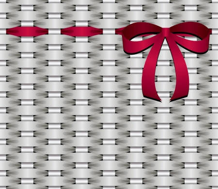 ribbin: basketwork with red bow  Illustration