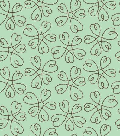 arts abstract: flower heart pattern Illustration