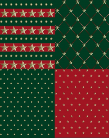 X mas Star Pattern Vector