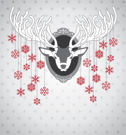 Christmas deer Stock Vector - 23214471