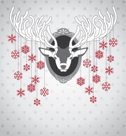 reindeers: Christmas deer Illustration