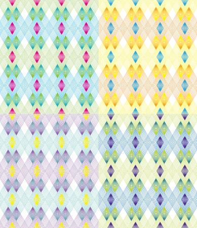 magenta decor: Color Line Pattern Illustration