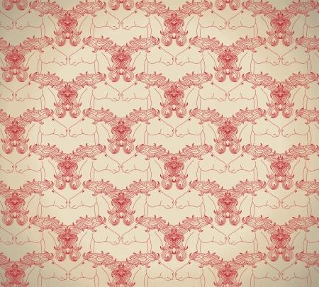 kirigami: Horse pattern  Illustration