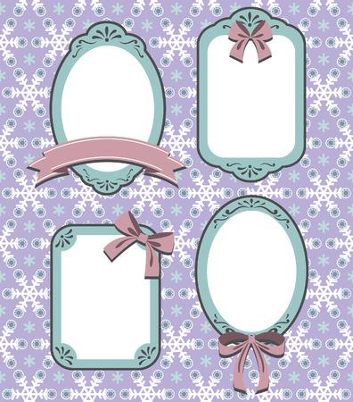 Snowflake Frame  Illustration