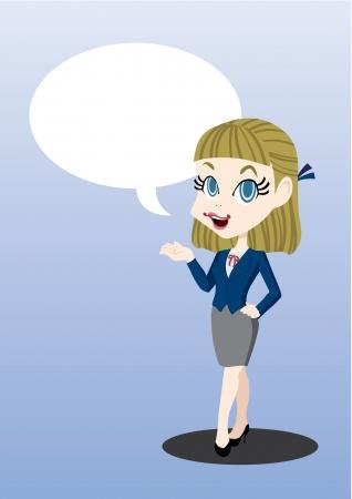 woman speaking Stock Vector - 23236906