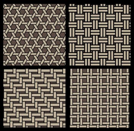 basketwork pattern Vector