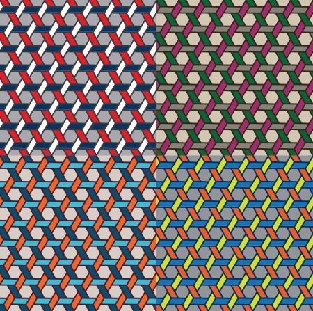 meshwork: basketwork pattern