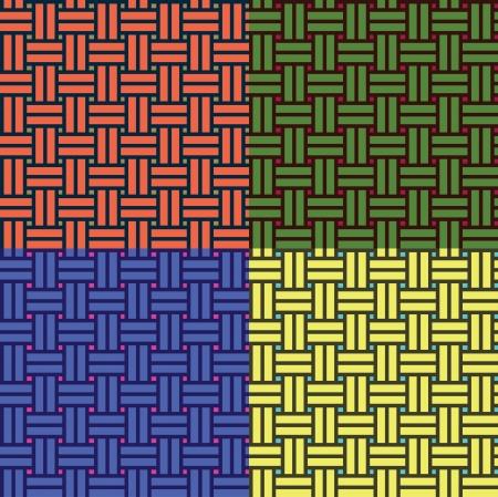 wickerwork: basketwork pattern