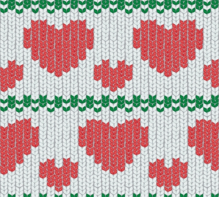 christmas knitting  Vector