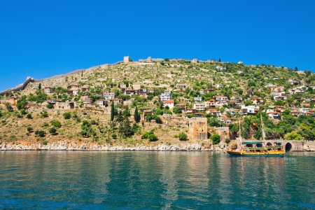 The city of Alanya  Turkish settlement in the Mediterranean sea  photo