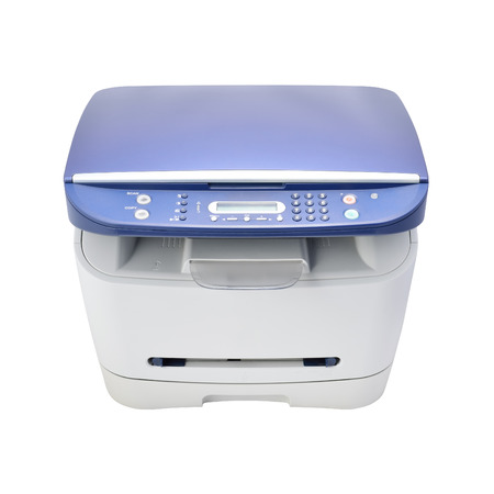 mfp: Multifunction printer isolated on white  High quality