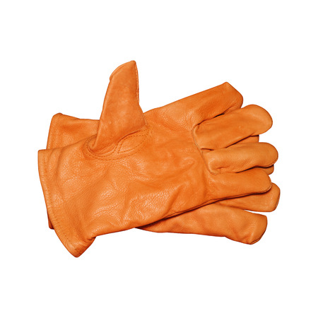 ppe: Protective gloves isolated on white with clipping path