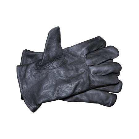 leather gloves: Protective gloves isolated on white with clipping path