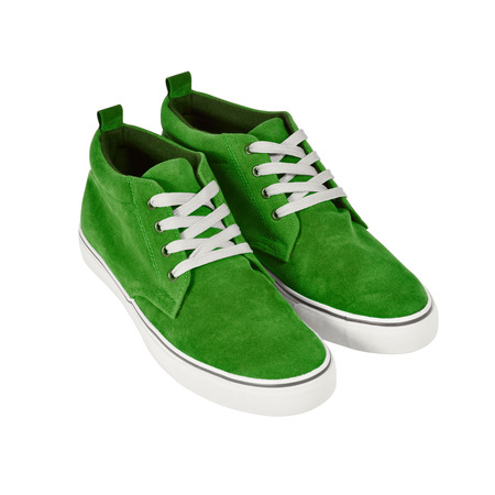 sneaks: A pair of casual style sneakers isolated on white background  Clipping path included