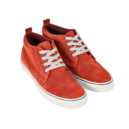 A pair of casual style sneakers isolated on white background  Clipping path included