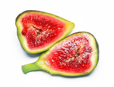 Exotic fig fruit isolated on white background. Stock Photo
