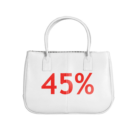 forty: Forty five percent sale bag. Design element isolated on white background with clipping path Stock Photo