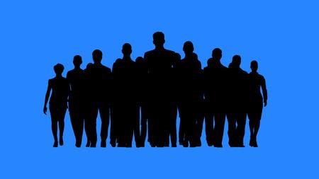 figura humana: Líder al frente del equipo. Predicar con el ejemplo concepto.