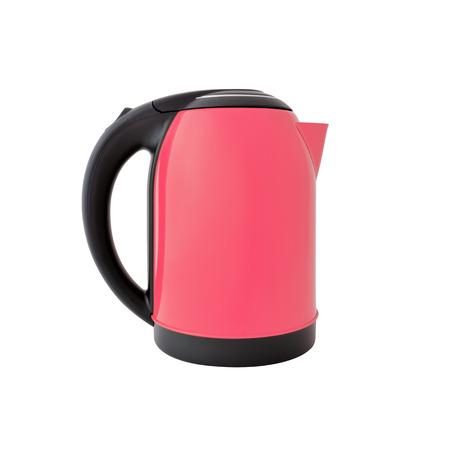 Pink kettle isolated on white background Reklamní fotografie