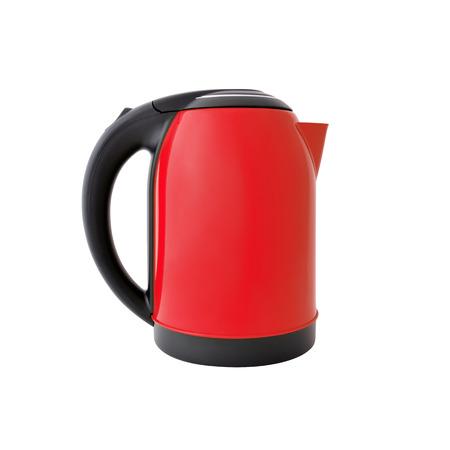 Red kettle isolated on white background Reklamní fotografie