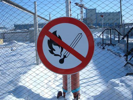 Matches do not burn! Prohibitory sign.  photo