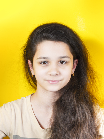 Portrait beautiful teenager girl. Close up