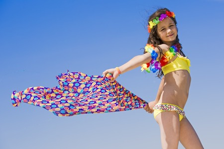 Portrait of beautiful teenage girl with scarf. Stockfoto