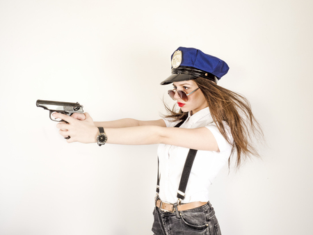 Girl With Gun Stock Photos And Images , 123RF