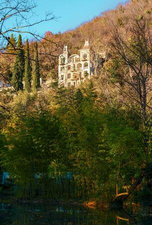 Sukhum, Abkhazia, - 03 January, 2013: The ruins of the Prince of Oldenburg castle. Редакционное