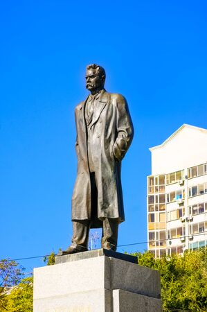 Rostov-on-Don,Russia - October 14,2012: Monument of writer Maxim Gorky in Rostov-on-Don, Russian Federation