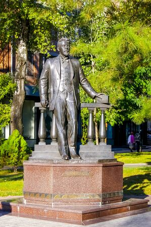 Rostov-on-Don,Russia - October 14,2012: The monument to the great Russian writer Anton Chekhov. Sculpted by Iulian Rukavishnikov, Located in the Chekhov Square