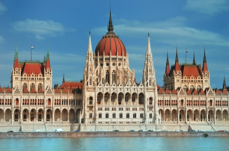View of Hungarian Parliament  Stock Photo