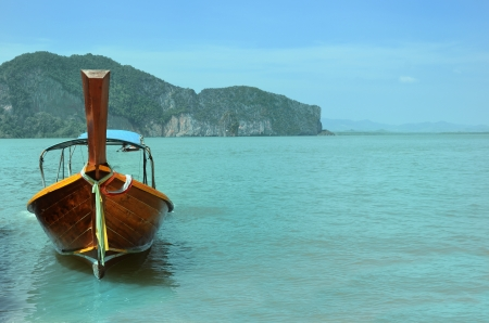 Traditional thai boat on Andaman Sea Thailand photo