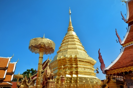 Wat Phrathat Doi Suthep Temple In Chiang Mai Thailand