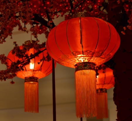Red lantern Chinese culturem Asia photo