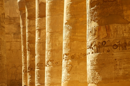 scribes: Ancient Egyptian pillars and script Stock Photo