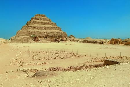 djoser: Djoser step pyramid by Imhotep in Sakkara