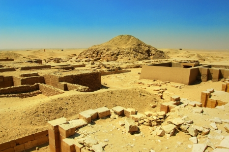 djoser: Archeological place near Djoser step pyramid by Imhotep in Sakkara